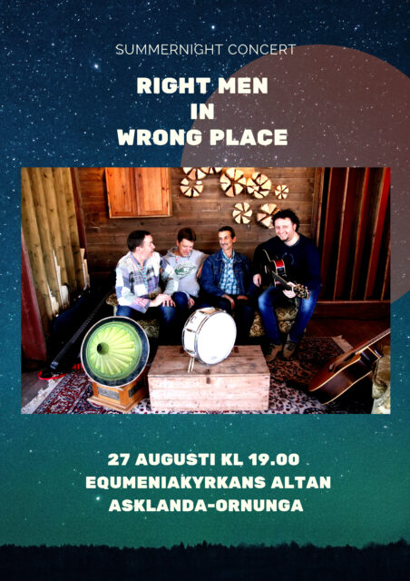 Summernight concert med Right men in wrong place